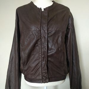 SEE BY CHLOE Brown 100% Soft Sheep Leather Jacket